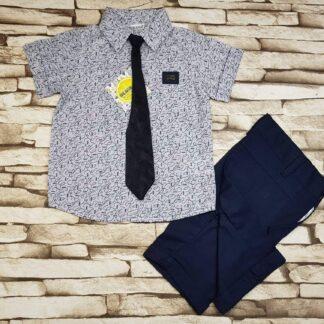 Σετ Πουκάμισο Παντελόνι Γραβάτα με γραβάτα
