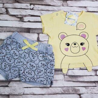 Σετ μπλουζάκι σορτσάκι Cute Αρκουδάκιι