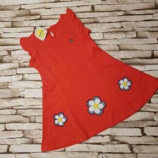 Φορεματάκι με ραμμένα λουλουδάκια