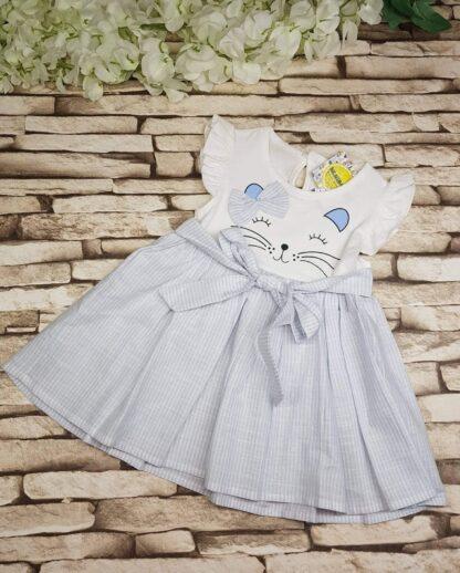 Φορεματάκι με Γατούλα και Φιογκάκι