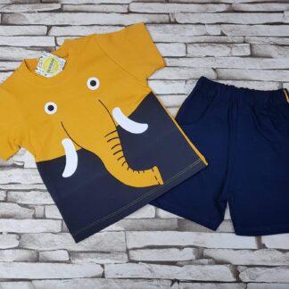 Σετ Μπλουζάκι Σορτσάκι Ελέφαντας