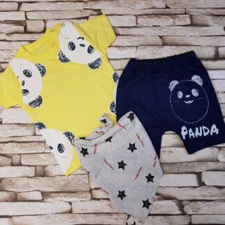 Σετ Μπλουζάκι Παντελονάκι May Mirr Panda Κίτρ