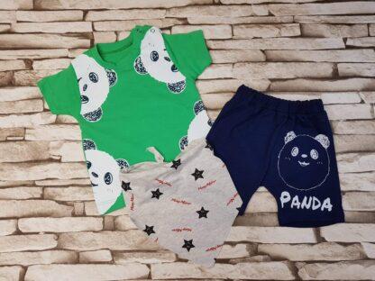 Σετ Μπλουζάκι Παντελονάκι May Mirr Panda Πράσ