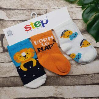 Κάλτσες 3άδα Λιονταράκια Born To Nap