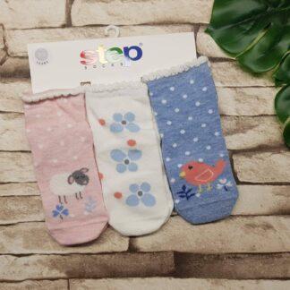 Κάλτσες 3άδα Ζωάκια και Λουλουδάκια