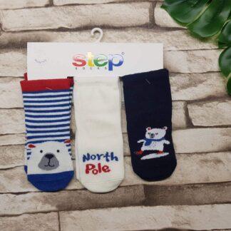 Κάλτσες 3άδα Αρκουδάκια North Pole