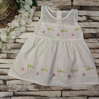 Φορεματάκι Με Κεντητά Λουλούδια