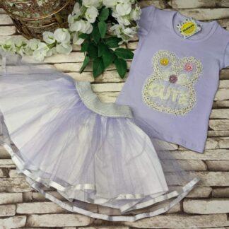 Σετ Μπλουζάκι Cute Με Τούλινη Φούστα