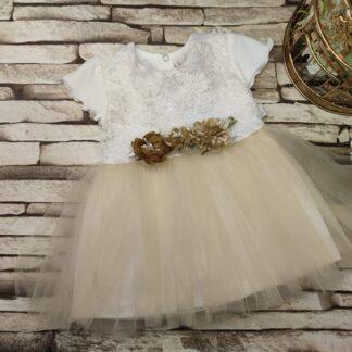 Φορεματάκι Με Τούλι 3D Λουλούδια