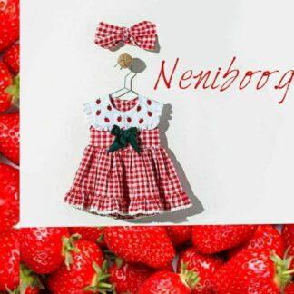 Φορεματάκι Καρό Φραουλίτσες