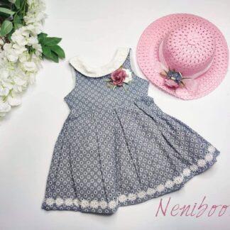 Φρεματάκι Λουλουδένιο Με Καπέλο