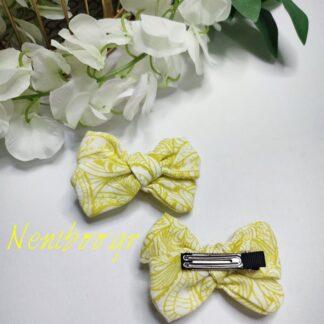 Χειροποίητο Κλιπ Μαλλιών Κίτρινο Tropical