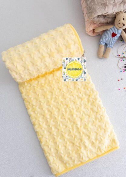 Κουβέρτα Κίτρινη Με Αστεράκια