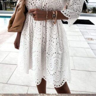 Φόρεμα Κοφτό Λευκό Mini