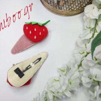 Κλιπ Μαλλιών Σε Σχήμα Φράουλας