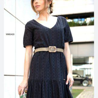 Φόρεμα Le Vertige Μαύρο Κηπούρ Mini