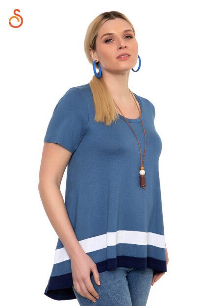 Μπλουζα Sugar Γαλάζιο Με Κρεμαστό