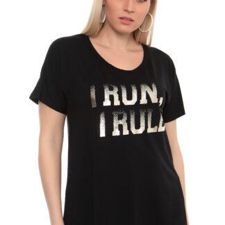 Μπλούζα Sugar Μαύρη I Run I Rule