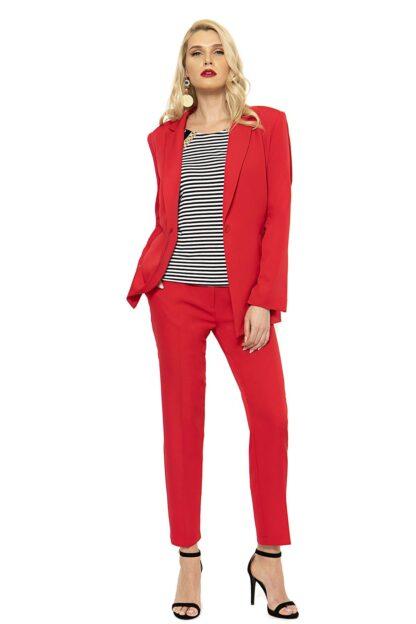 Σακάκι Silky Σε Κόκκινο Χρώμα