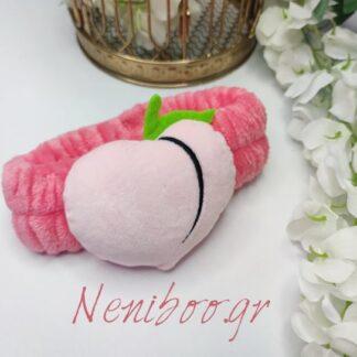 Κορδέλα Φουξ Με 3D Ροζ Καρδούλα