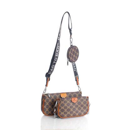 Τσάντα Bag To Bag Χιαστή Τριπλή