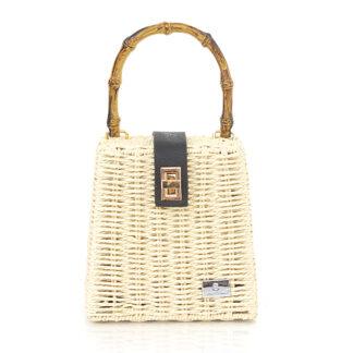 Τσάντα Ώμου Μπεζ Βamboo