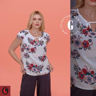 Μπλούζα Garantie Σταθερή Floral