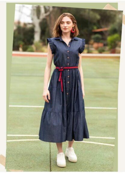 Φόρεμα Le Vertige Τζιν Με Κουμπιά