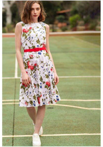 Φόρεμα Le Vertige Floral Με Ζώνη