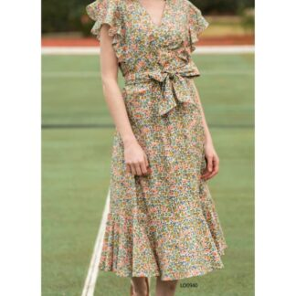 Φόρεμα Le Vertige Floral Χακί