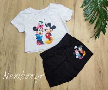 Σετ Μπλουζάκι Σορτς Mickey Minnie