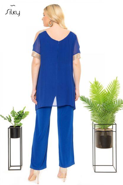 Ολόσωμη Φόρμα Silky Μπλε Ρουά