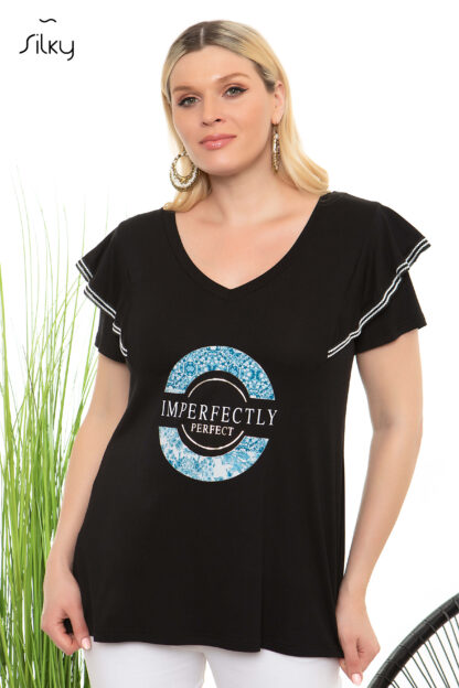 Μπλούζα Silky Μαύρη Imperfectly