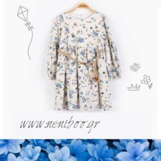 Φορεματάκι  Floral Με Ζώνη