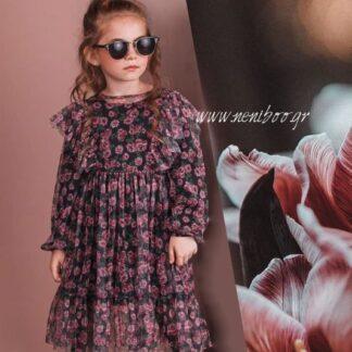 Φόρεμα Floral Mε Τούλι