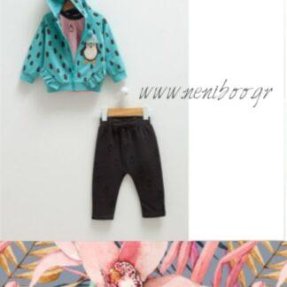 Σετ Μπλούζα Πουά-Καρδούλες Παντελόνι