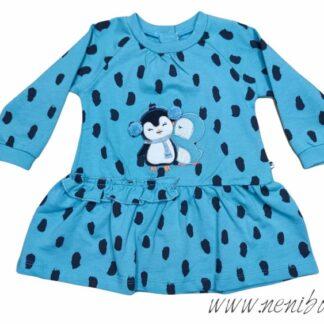 Φορεματάκι Μέντα-Πουά Με πιγκουινάκια