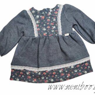 Φορεματάκι Γκρί-Φλοράλ