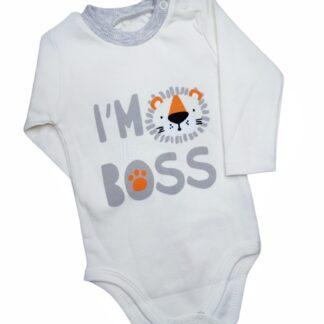Ζιπουνάκι Γκρι I'm The Boss
