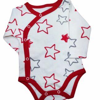 Ζιπουνάκι Λευκό-Κόκκινο Με Αστεράκια