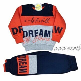 Σετ Φόρμες Μπλούζα Πορτοκαλί Dream Left Behin