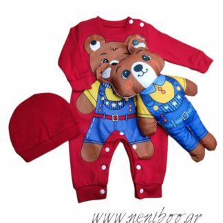 Φορμάκι Κόκκινο 3D Αρκούδο Αποσπώμενο Αρκουδά