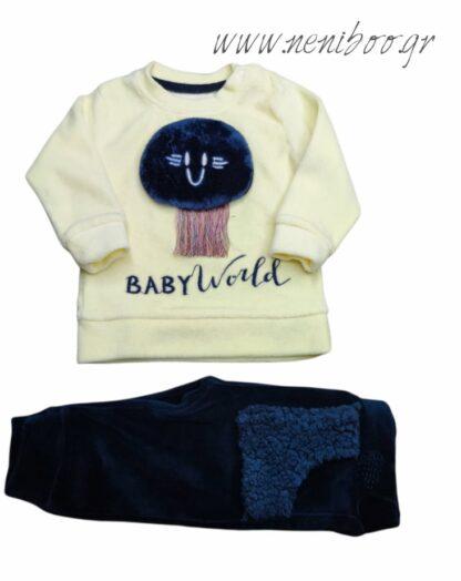 Σετ Φόρμες Κίτρινο Baby World Παντελόνι