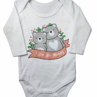 Ζιπουνάκι Λευκό I Love You Mommy Αρκουδάκια