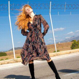 Φόρεμα Le Vertige Καφέ Λαχούρ
